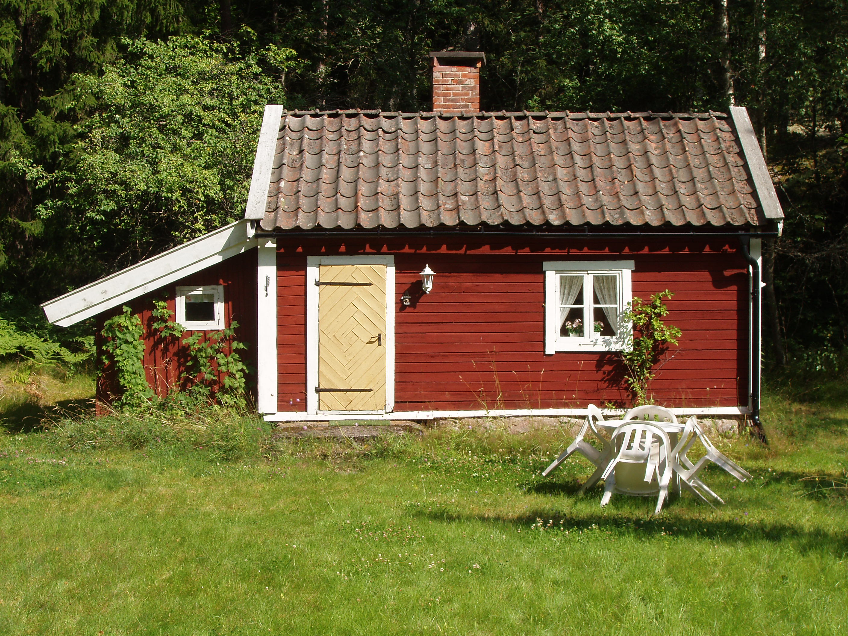 Scandinavian Cottages Painted Red And Yellow