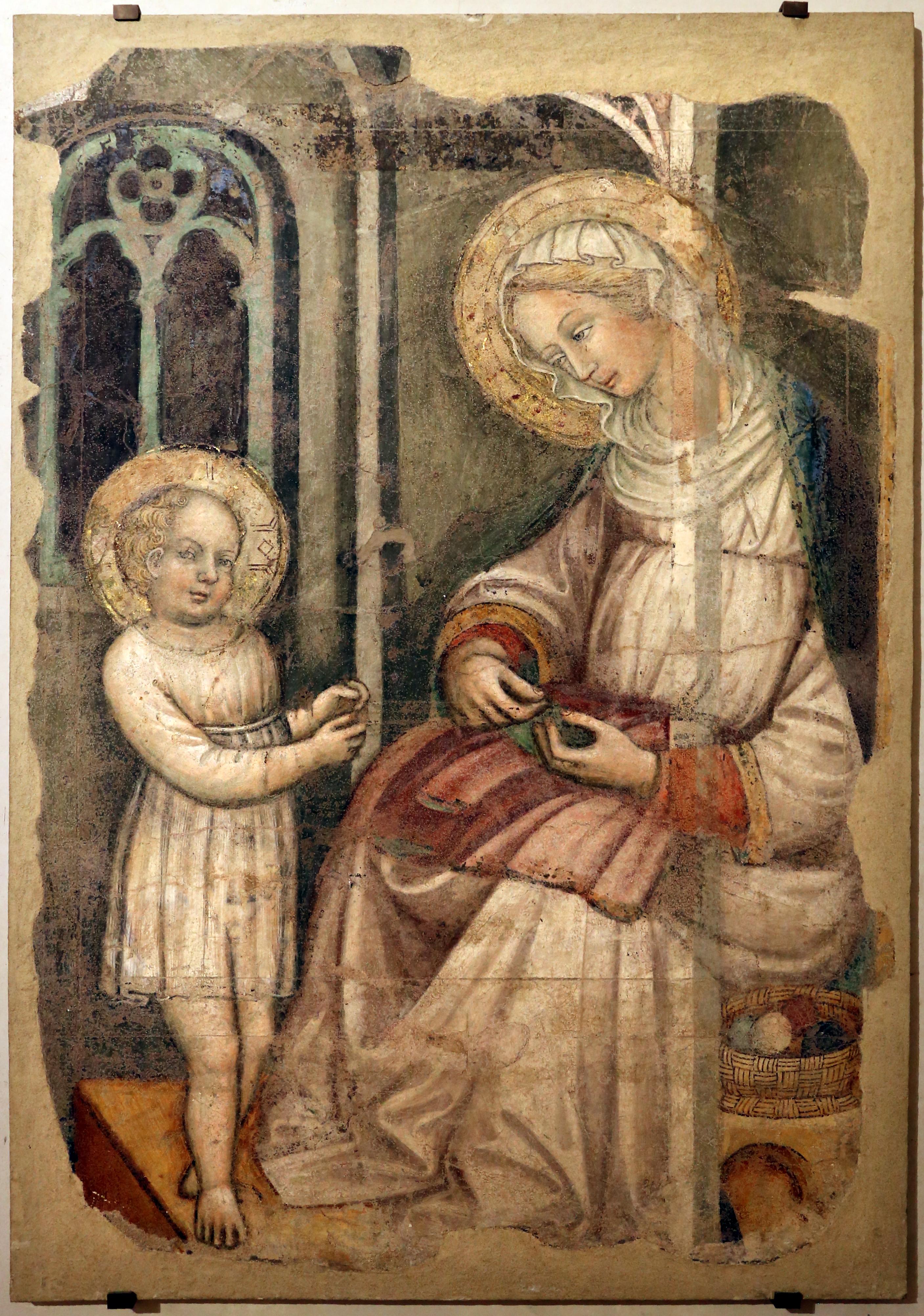 Gesu Bambino Dalla.File Giovanni Di Tano Fei Madonna Che Cuce E Gesu Bambino Che Gioca 1405 10 Ca Dalla Cappella Benci Jpg Wikimedia Commons
