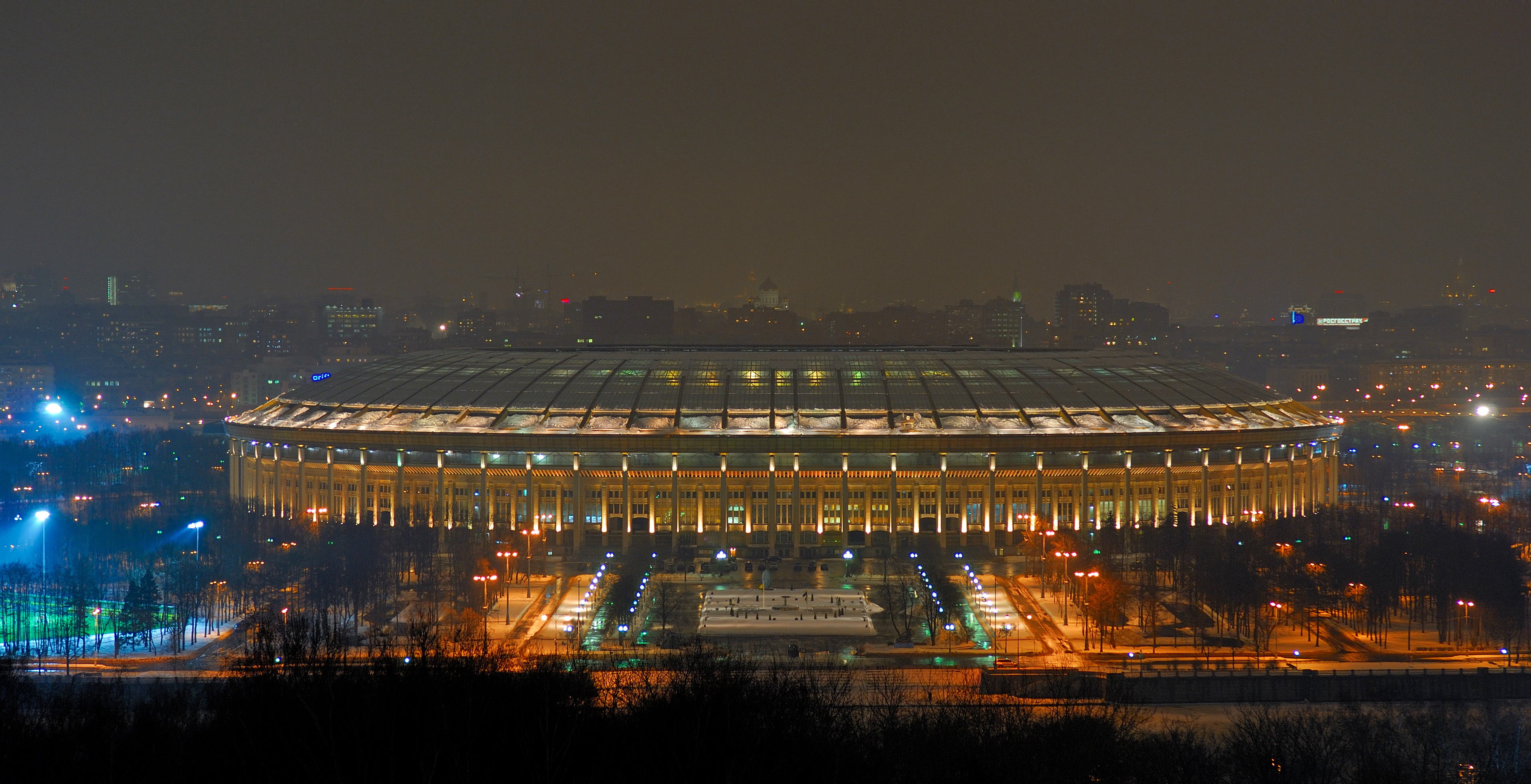 Description grand sports arena of luzhniki stadium