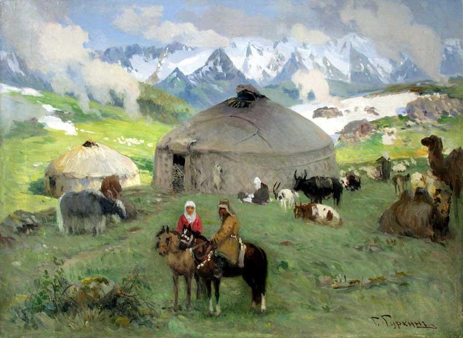 картинки казахский аул это самое популярное
