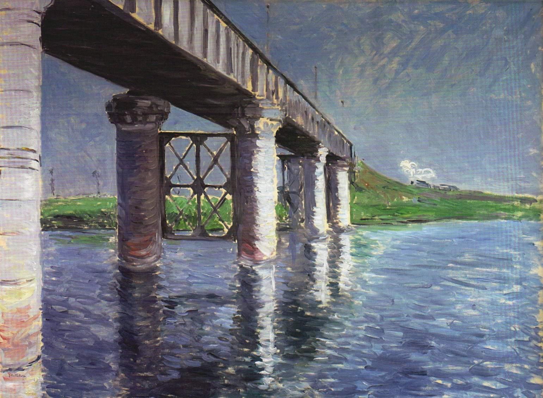 File gustave caillebotte la seine et le pont du chemin for Imag fer forget argenteuil