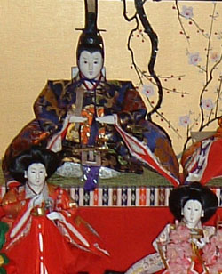 Hinamatsuri Hina dolls, the Emperor with two h...