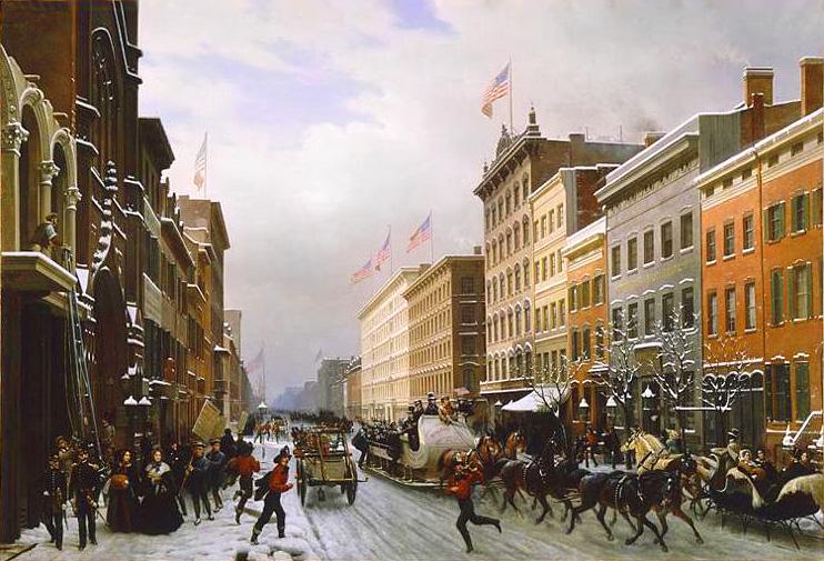 File:Hippolyte Sebron - Rue De New-York En 1840.jpg