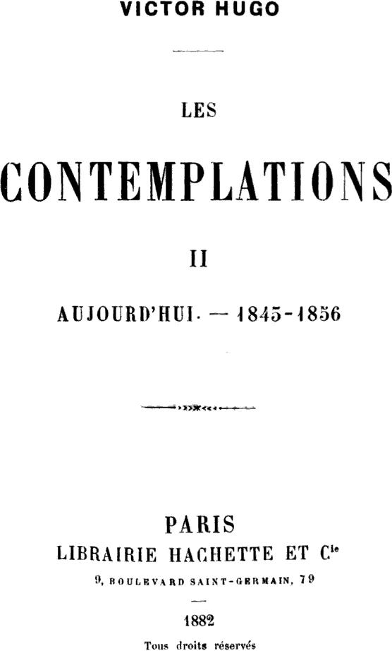Les Contemplations Wikipedia
