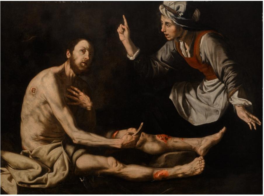 재 가운데의 욥 (후세페 데 리베라, Jusepe de ribera, 1600년)