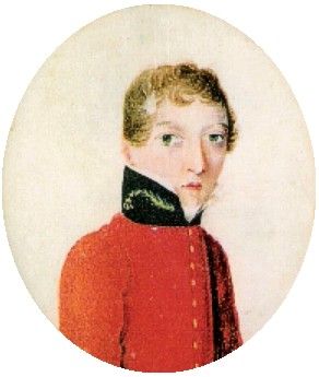 Barry as a young man in a red miliary jacket