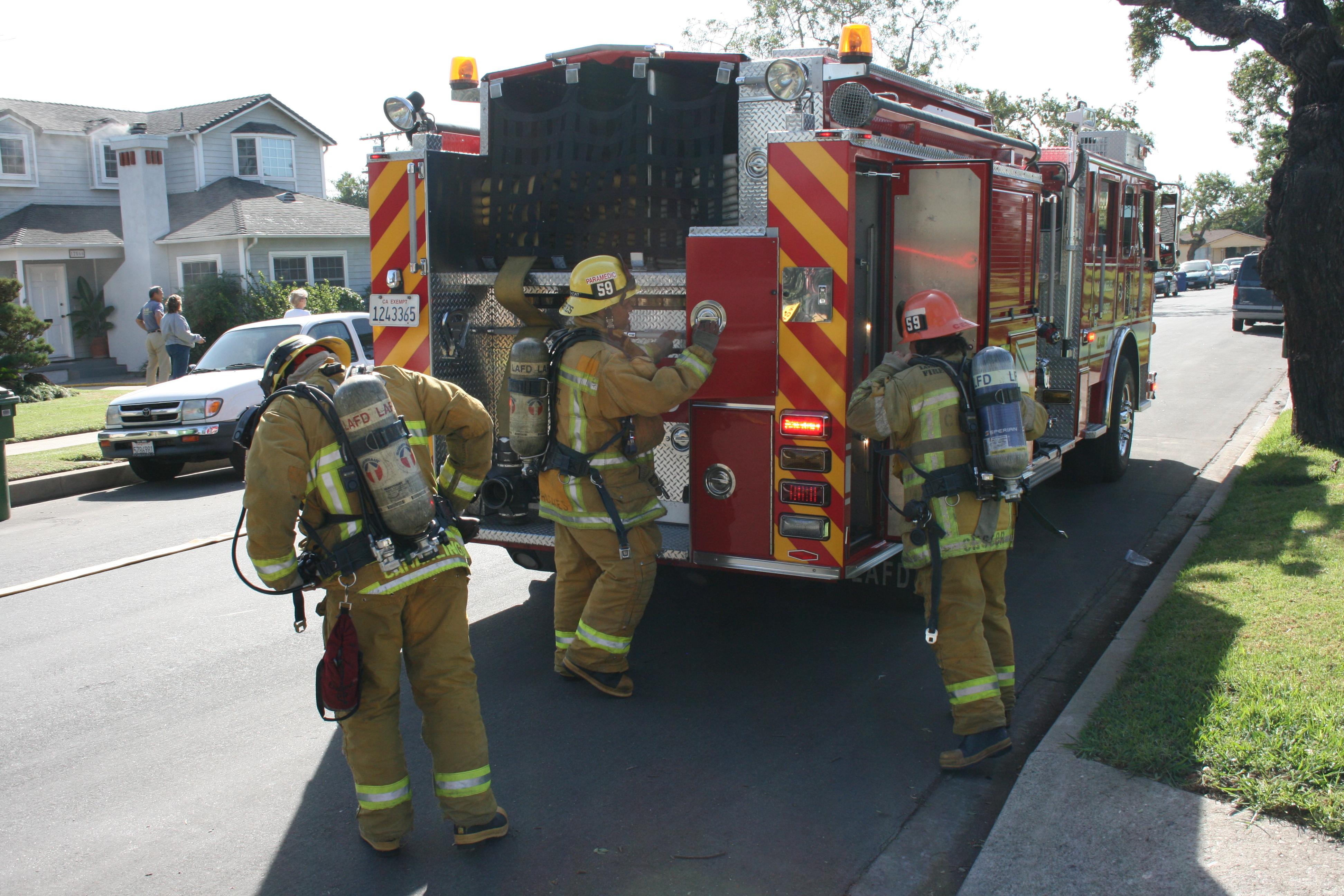 File:LA City Firefighters Gear Up.jpg - Wikimedia Commons