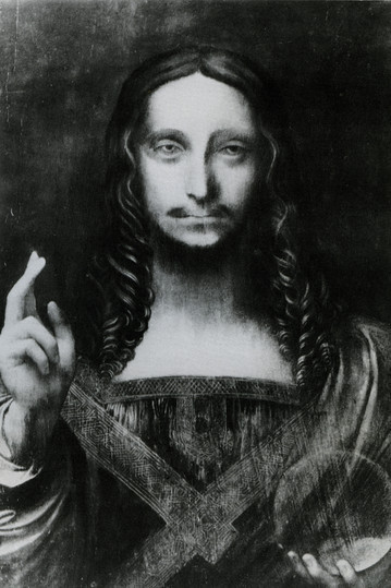 Leonardo Da Vinci Salvator Mundi Wikipedia >> File:Leonardo, salvator mundi prima del restauro.jpg - Wikimedia Commons
