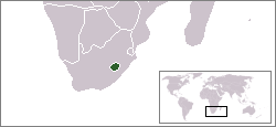Position of Lesotho within South Africa