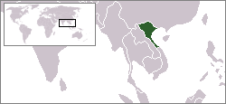 Location of North Vietnam