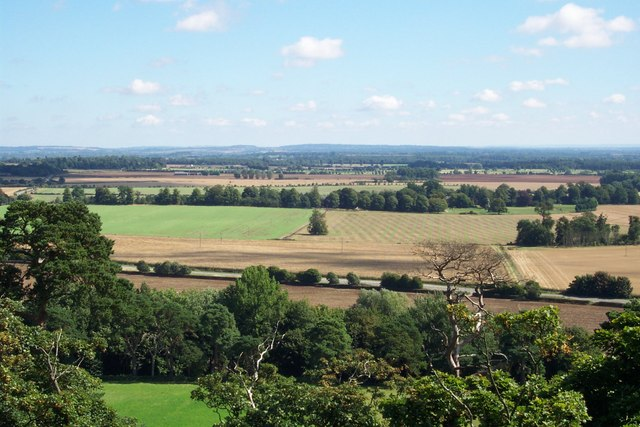 Looking towards the Ridgeway from Faringdon Folly - geograph.org.uk - 459515