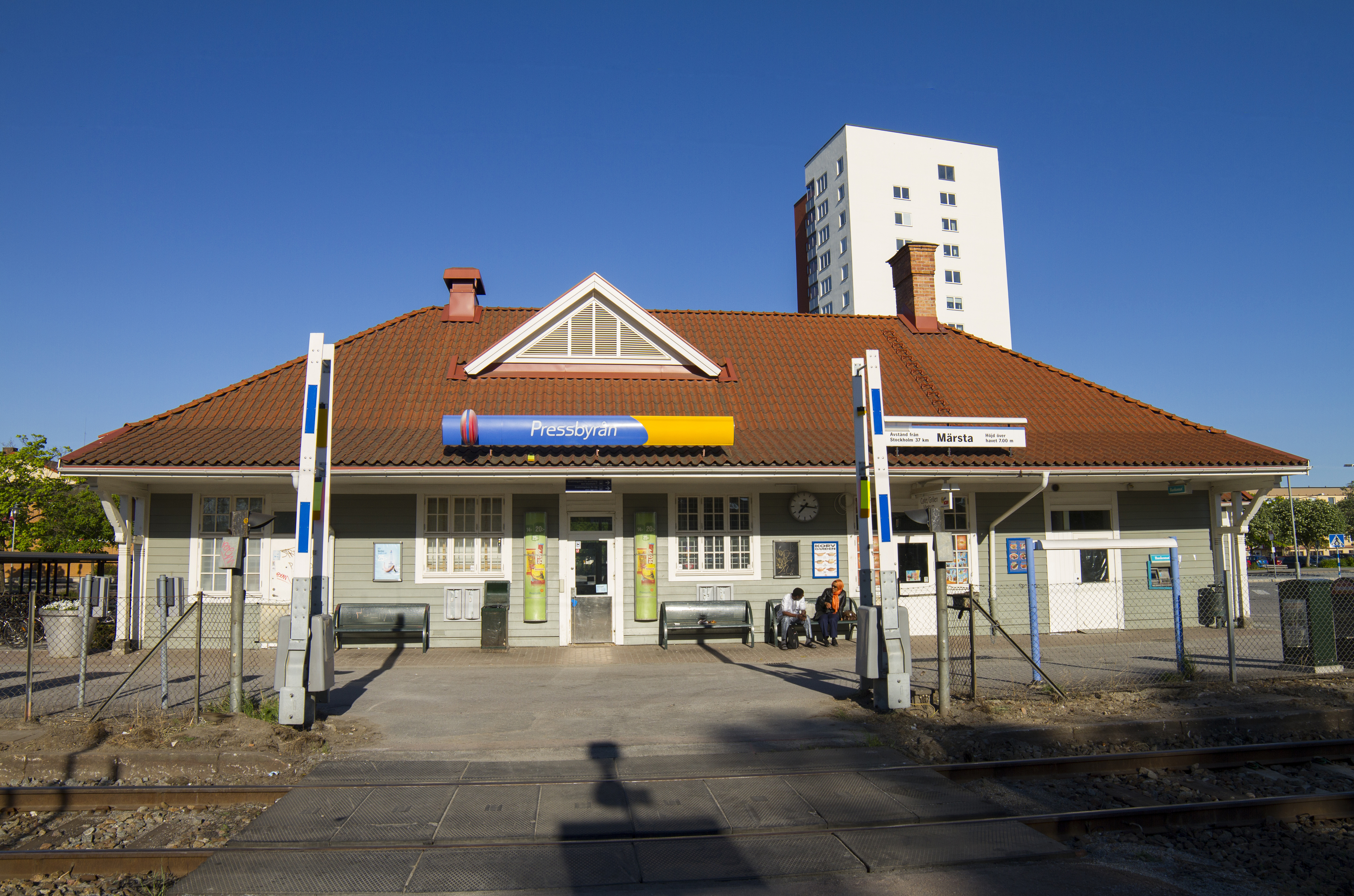 pressbyrån märsta station