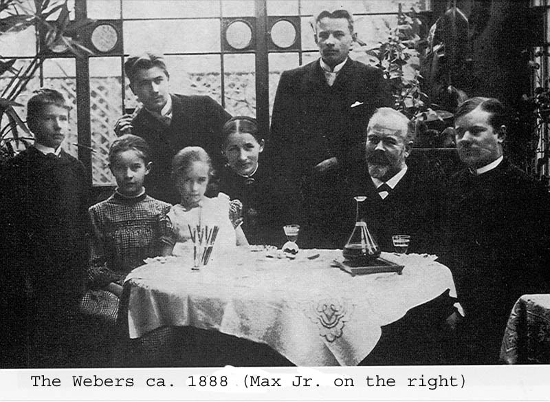 Weber family: ca. 1888. Max Weber (Jr.) on the...