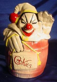Cookie jar depicting clown.