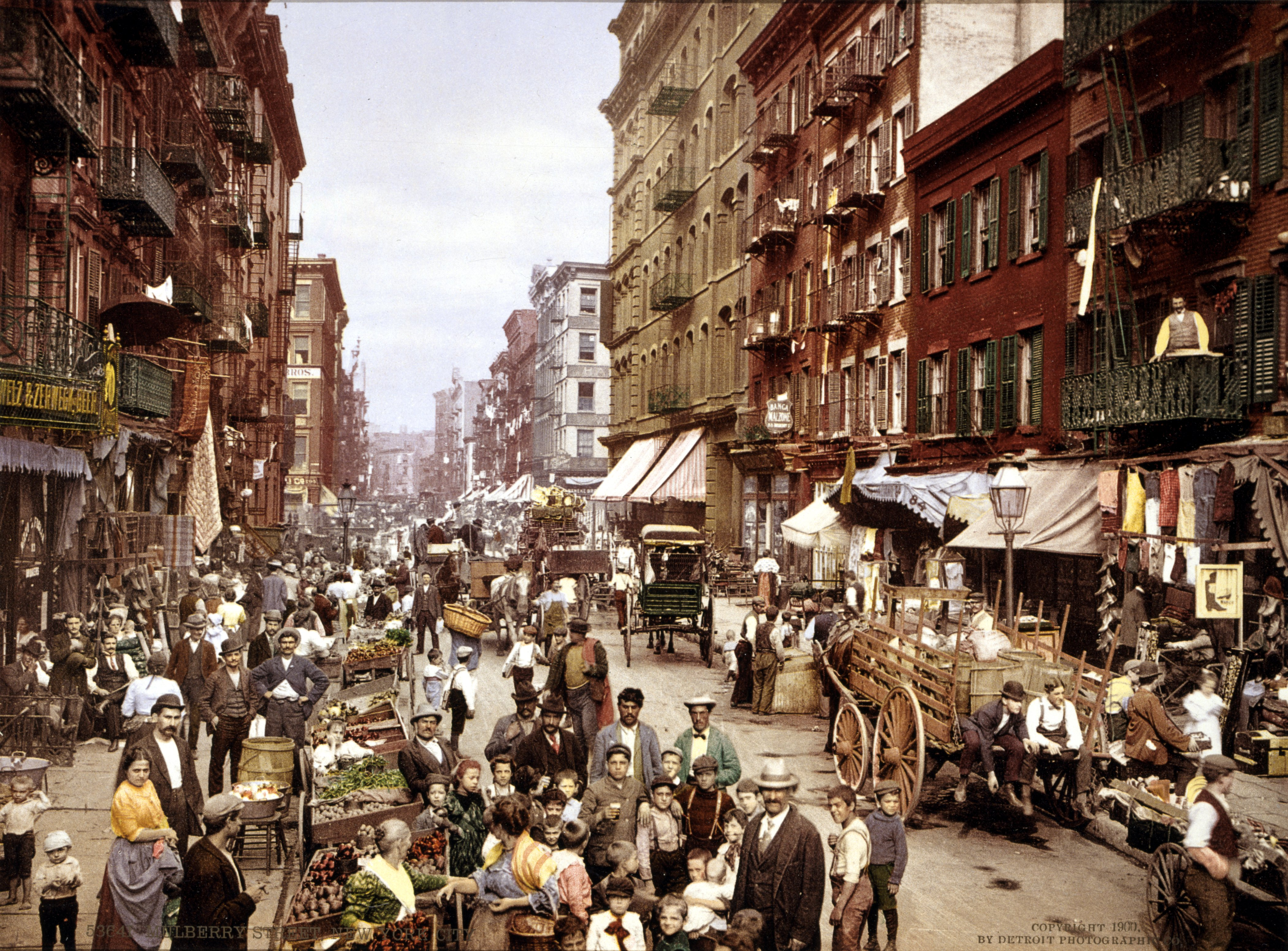 File mulberry street nyc c1900 loc for The americano nyc