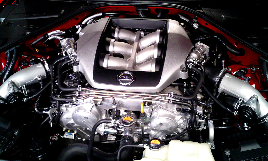 Description nissan gt r engine