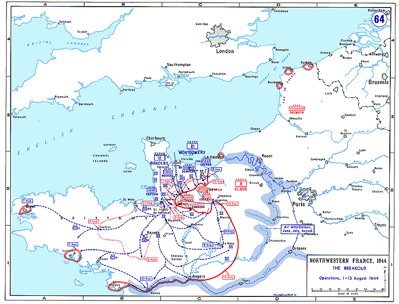 Ramelle France Map.File Normandybreakout Jpg Wikimedia Commons