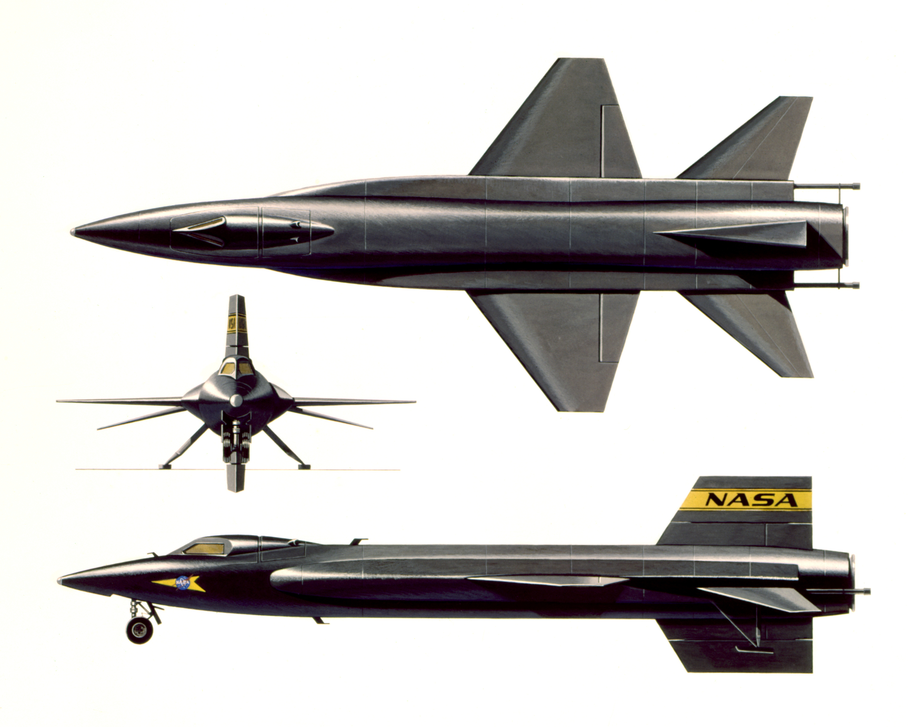 Description North American X-15 three side view.jpg