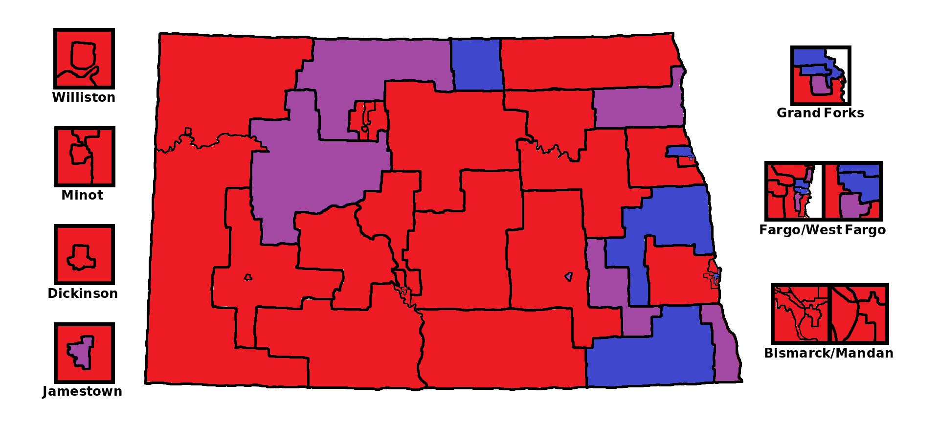 File:North Dakota State House Partisan Map.png - Wikimedia Commons