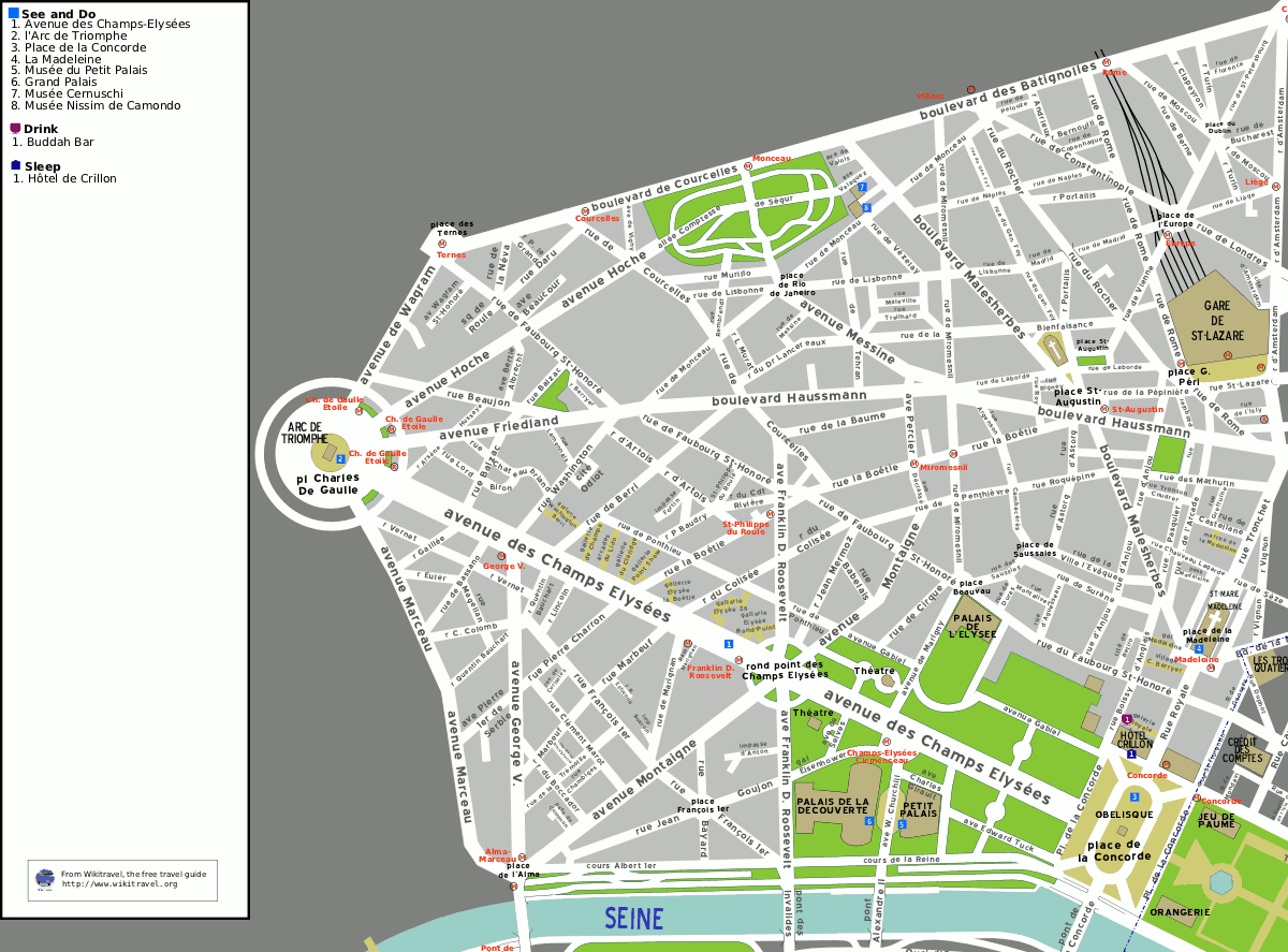 Liste des voies du 8e arrondissement de paris wikip dia for Bureau de change 13 arrondissement