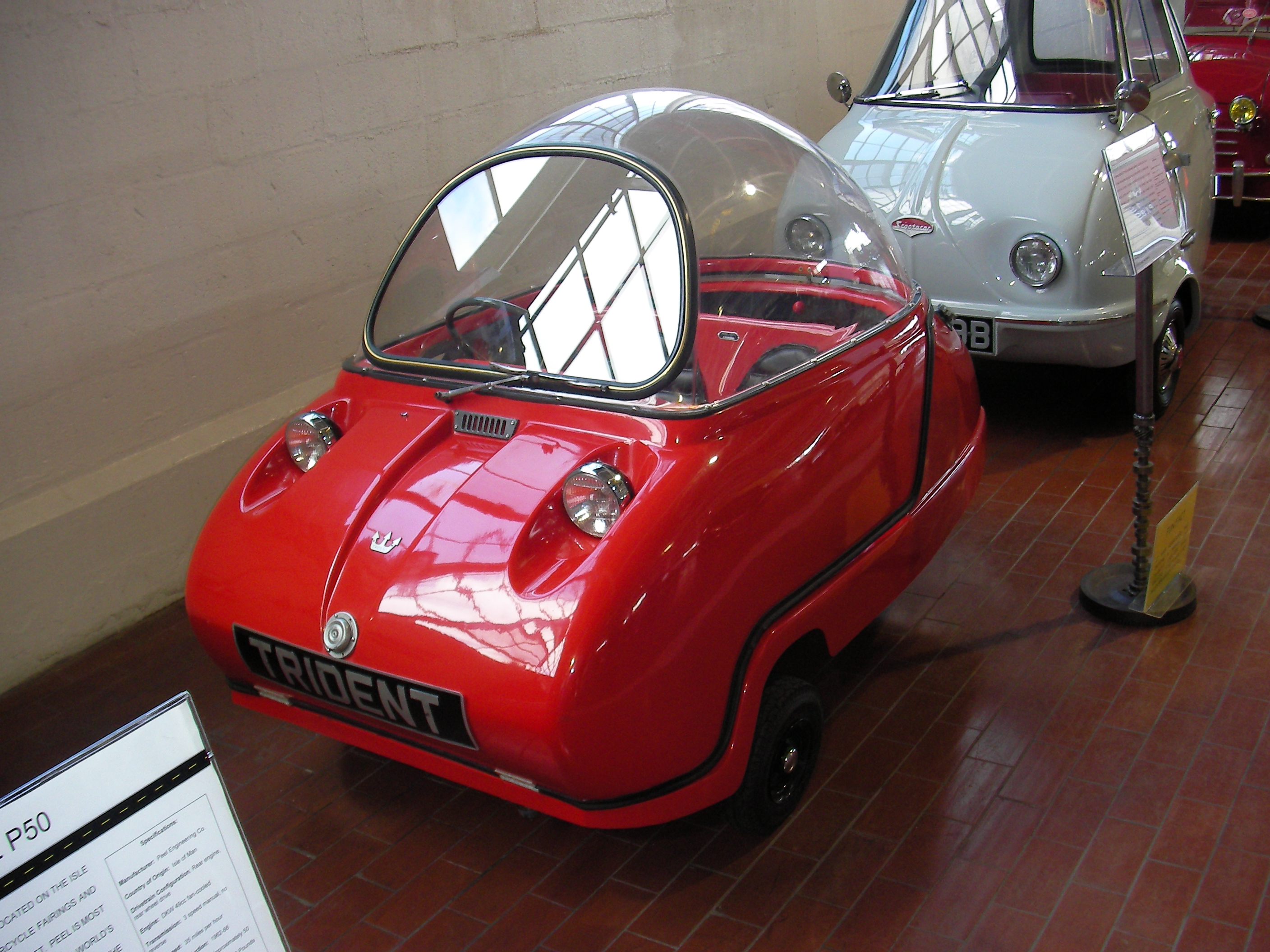 Red car with perspex roof