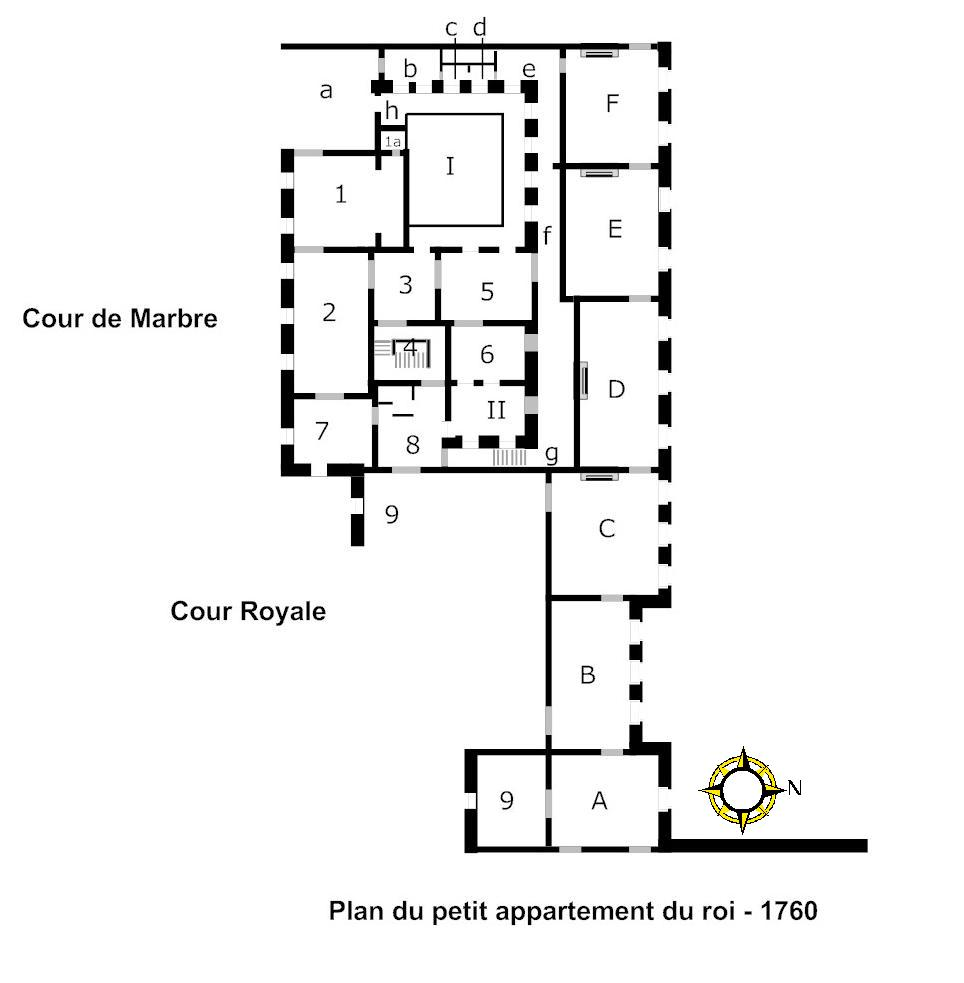 file plan du petit appartement du roi wikimedia commons. Black Bedroom Furniture Sets. Home Design Ideas