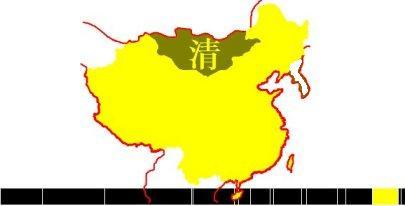 Carte des territoires de la dynastie Qing
