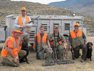English: Image of an upland game (quail) hunt ...