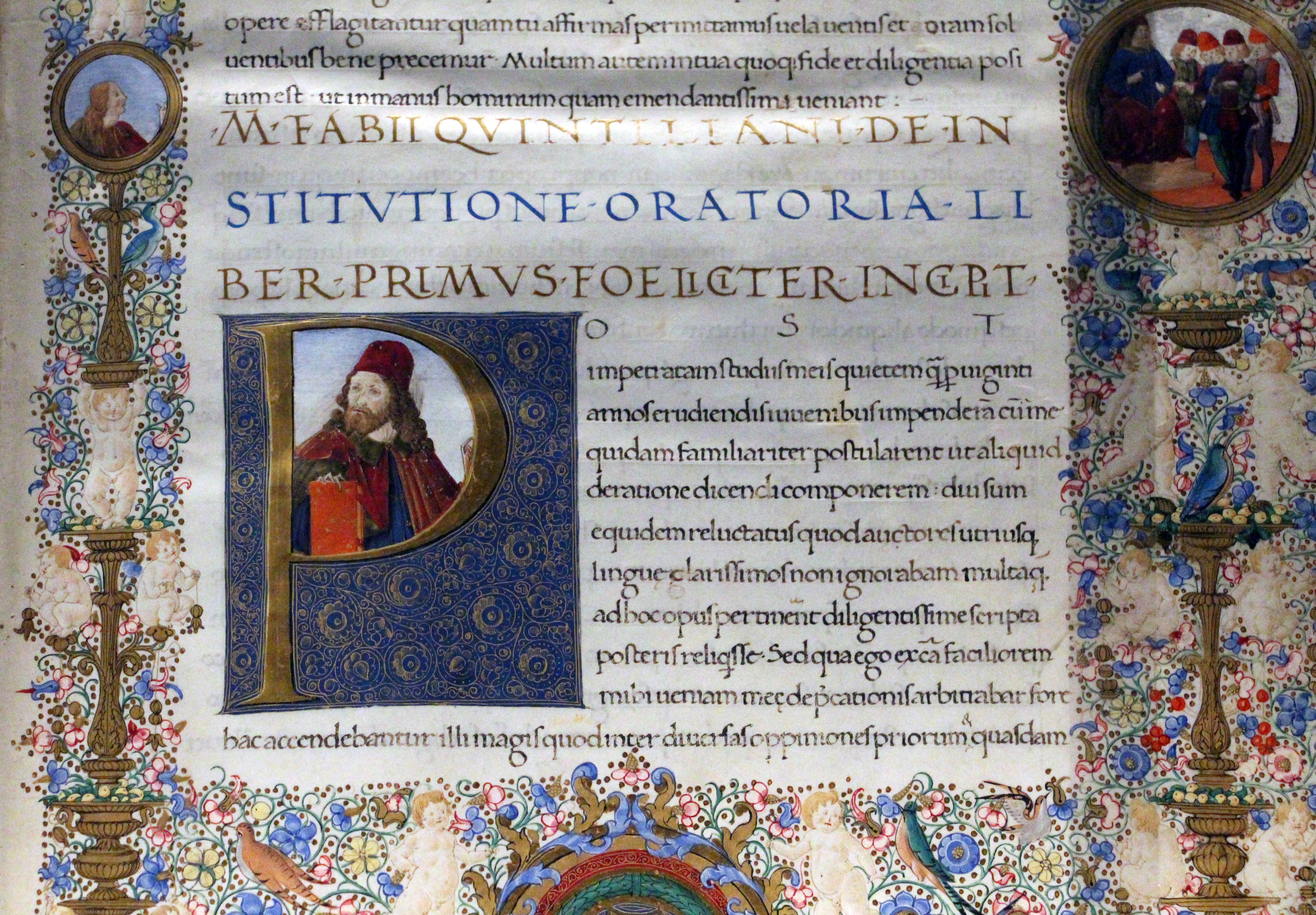 File:Quintiliano, institutio oratoria, firenze 1477 ca., pluteo ...