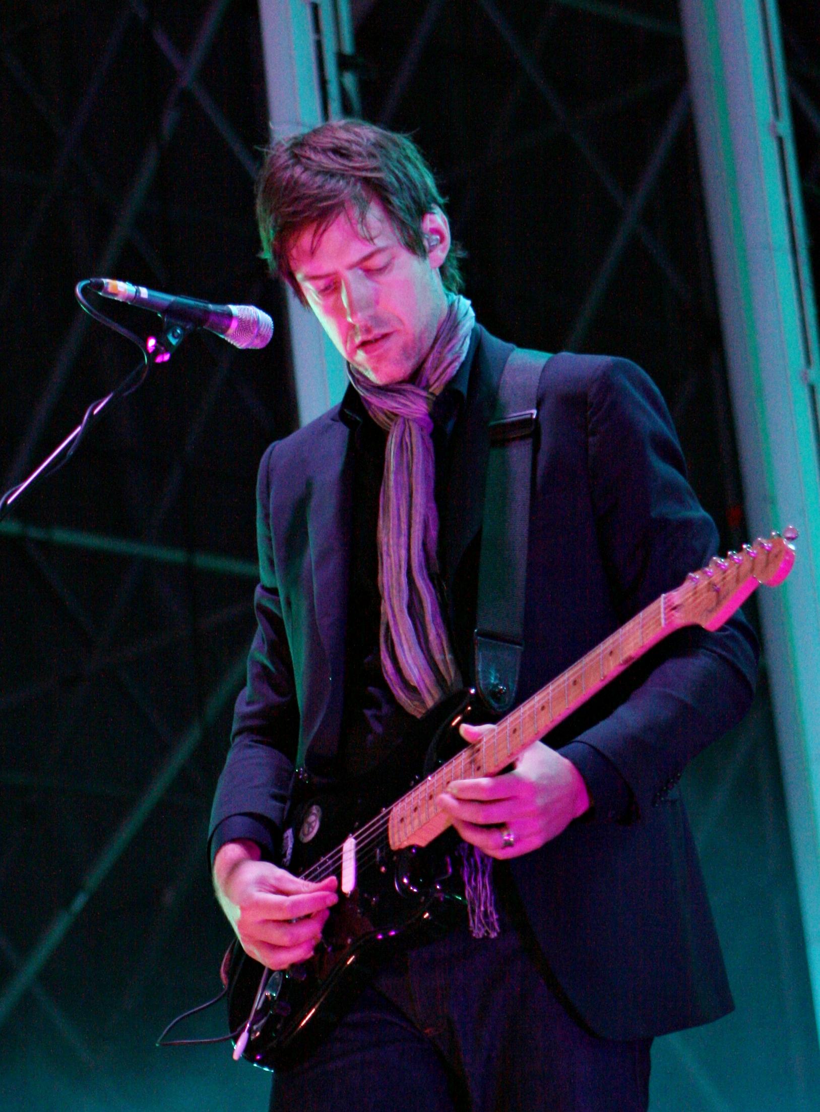 Ed con Radiohead (2008).