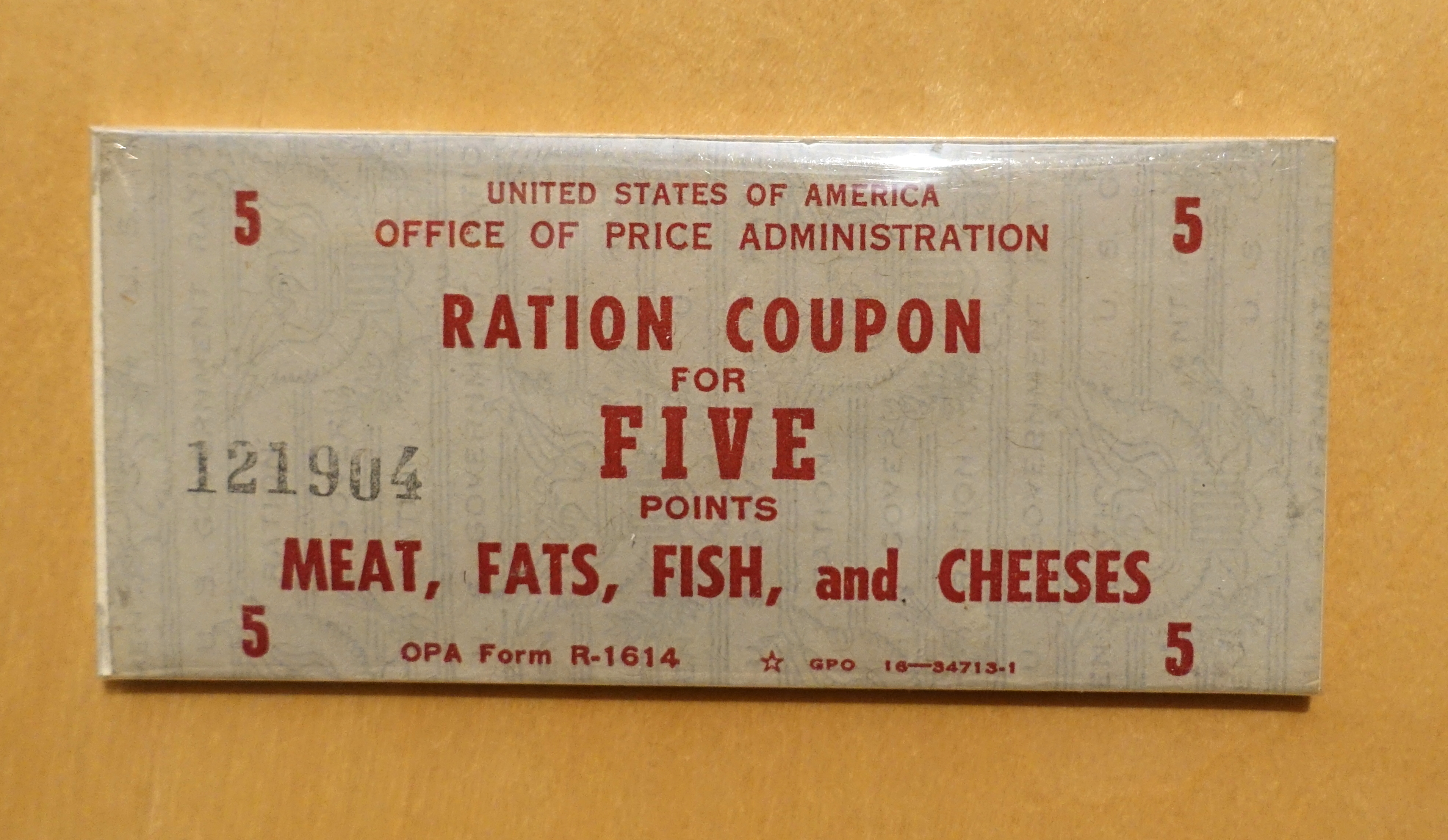 File Ration Coupon For Five Points Meat Fats Fish And Cheeses National Museum Of American History Dsc00068 Jpg Wikimedia Commons