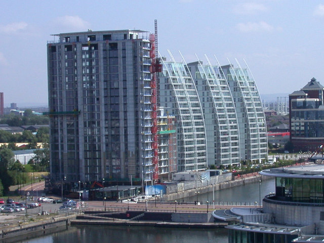 File:Salford Quays Flats seen from Imperial War Museum - geograph.org.uk - 731336.jpg