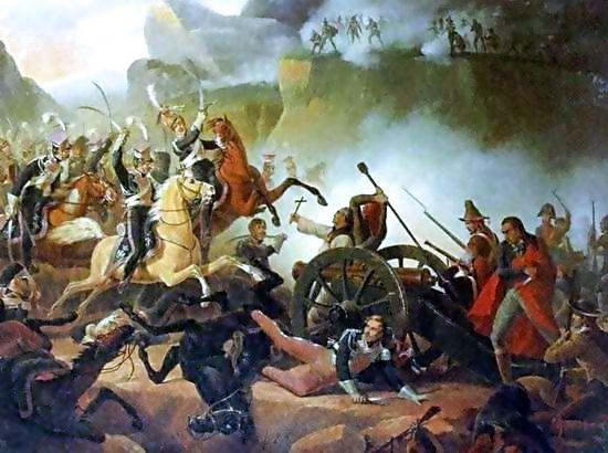 Bitwa podSomosierrą pędzla Januarego Suchodolskiego