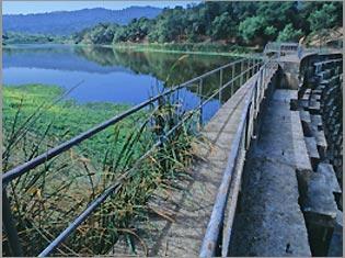 Searsville Dam Dam in San Mateo County, California, USA