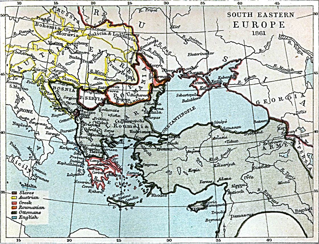 Picture of: File South Eastern Europe 1861 Jpg Wikimedia Commons