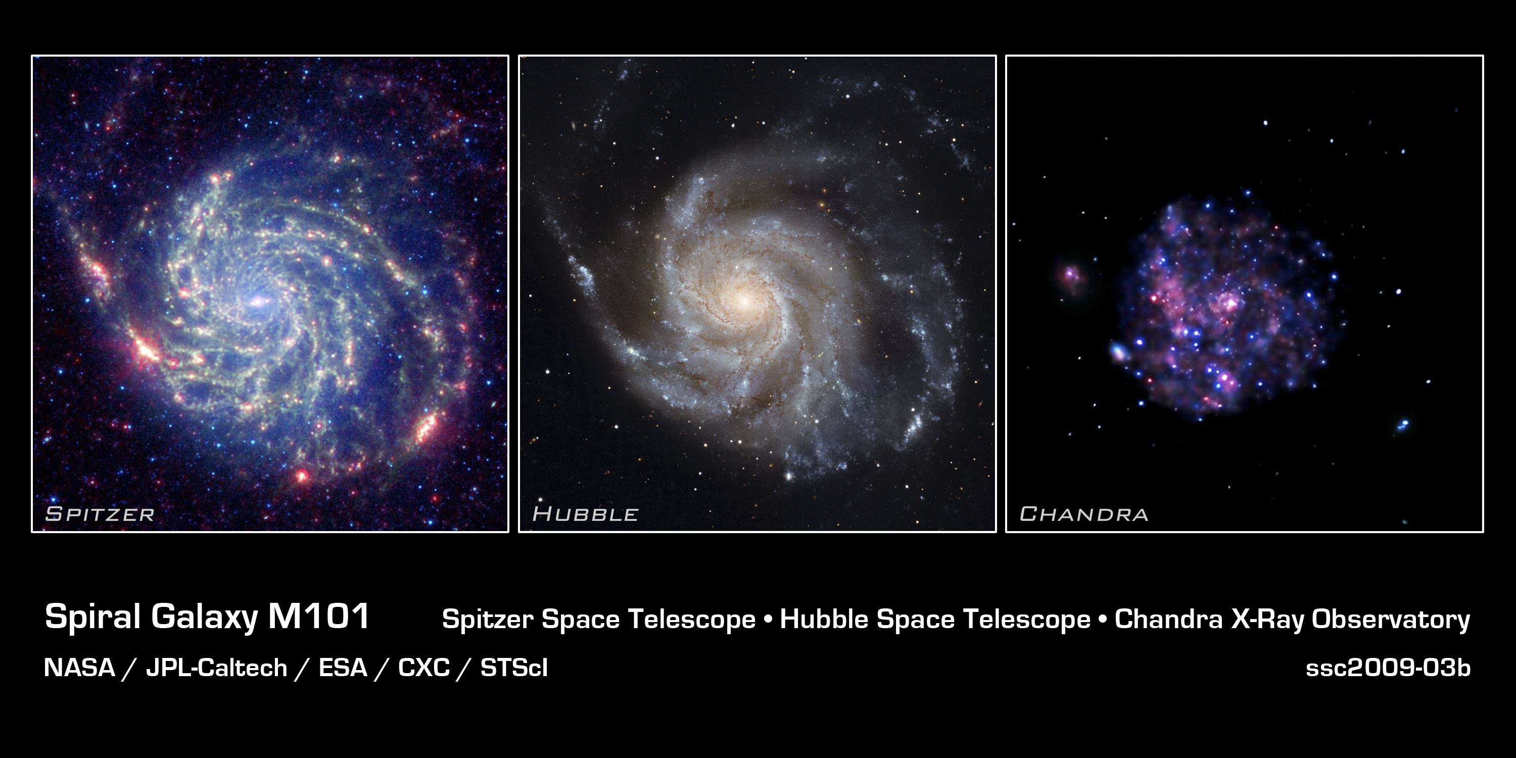 File:Spiral_Galaxy_M101_ _NASA's_Great_Observatories on Green Spiral Shape