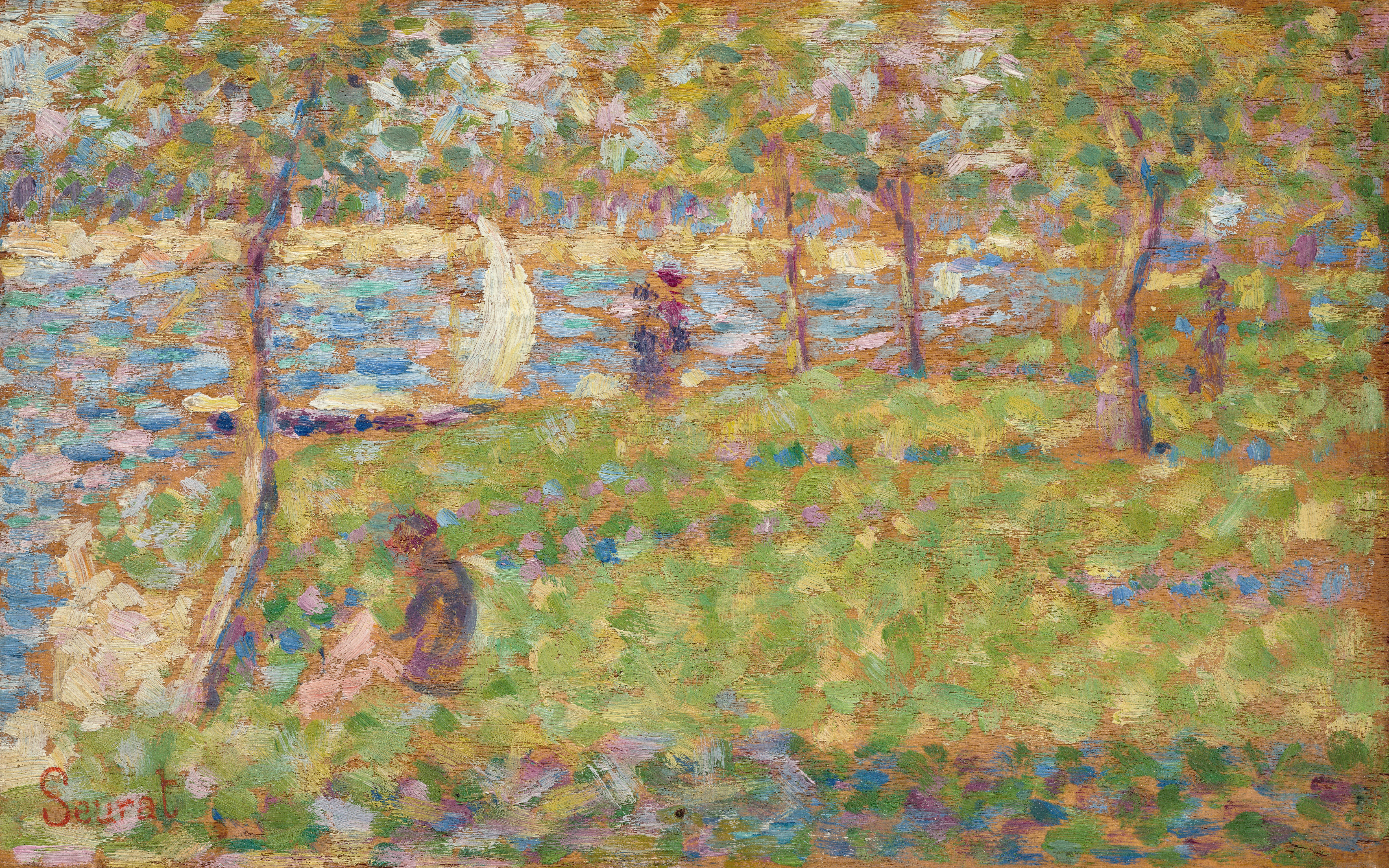 seurat sunday afternoon Handmade oil painting reproduction of sunday afternoon on the island of la grande jatte by georges seurat - brushwizcom museum quality guaranteed + free shipping.