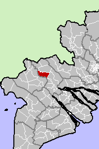 Location in Đồng Tháp Province