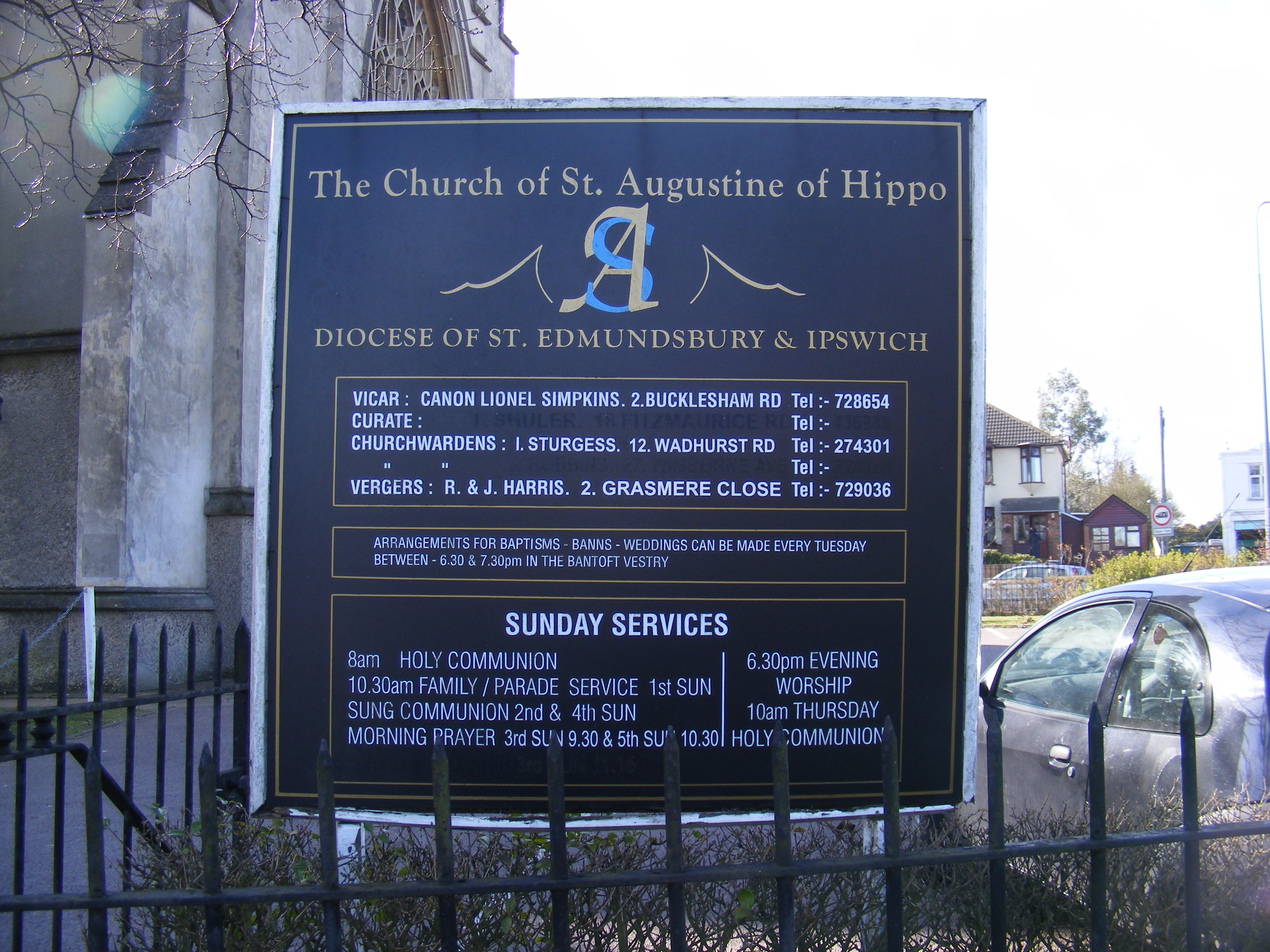 File:The Church of St Augustine of Hippo, Ipswich Sign