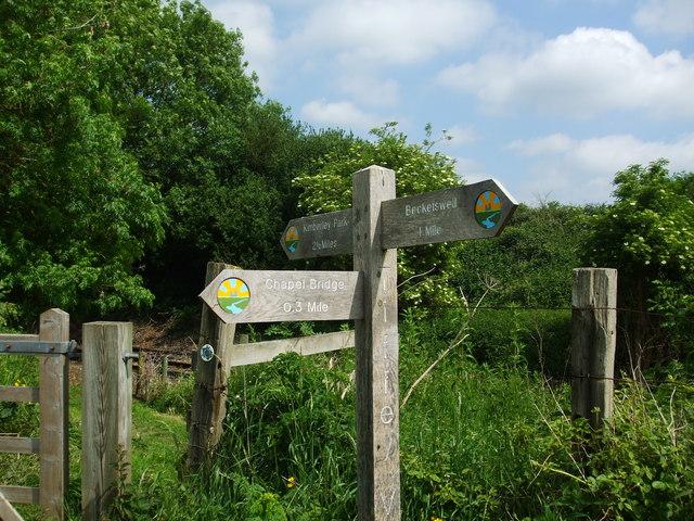Tiffey valley walk signpost - geograph.org.uk - 1333465