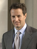 Timothy F. Geithner, Secretario del Tesoro de Obama