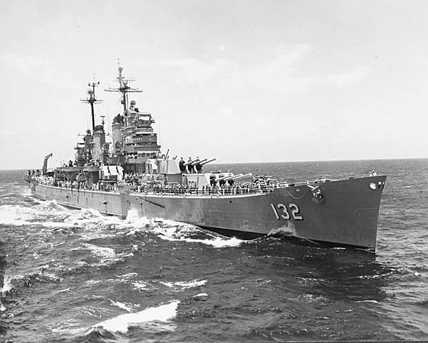 File:USS Macon (CA-132) in the Mediterranean Sea in 1953 ...