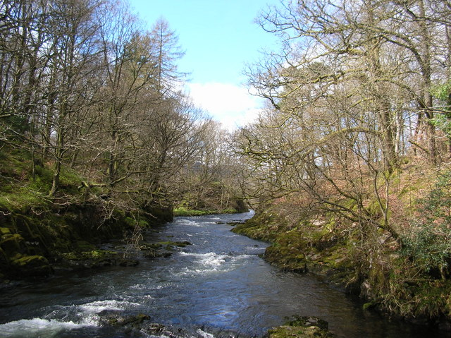 Upstream from Skelwith Force - geograph.org.uk - 370777