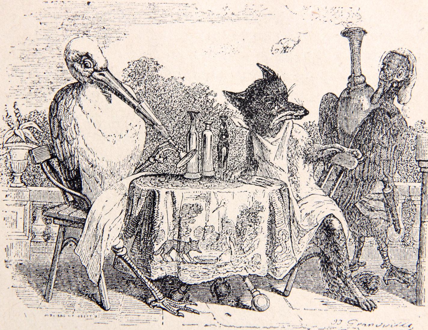 Le renard et la cigogne - Jean de La Fontaine 1-18-Le-renard-et-la-cigogne