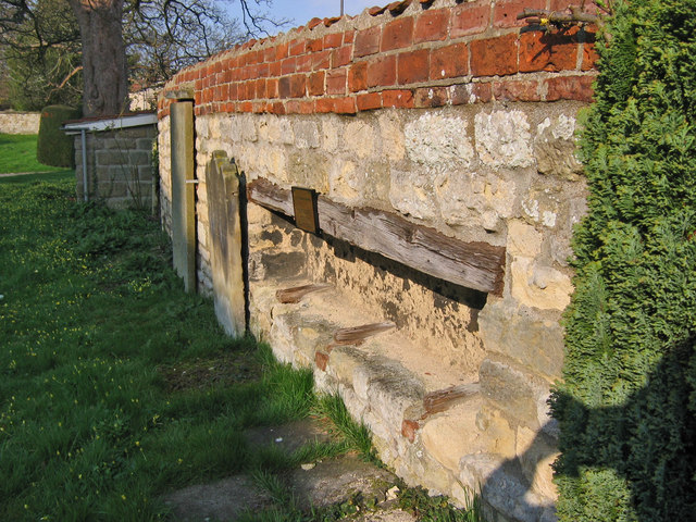 A coffin rest, used to house the parish coffin.
