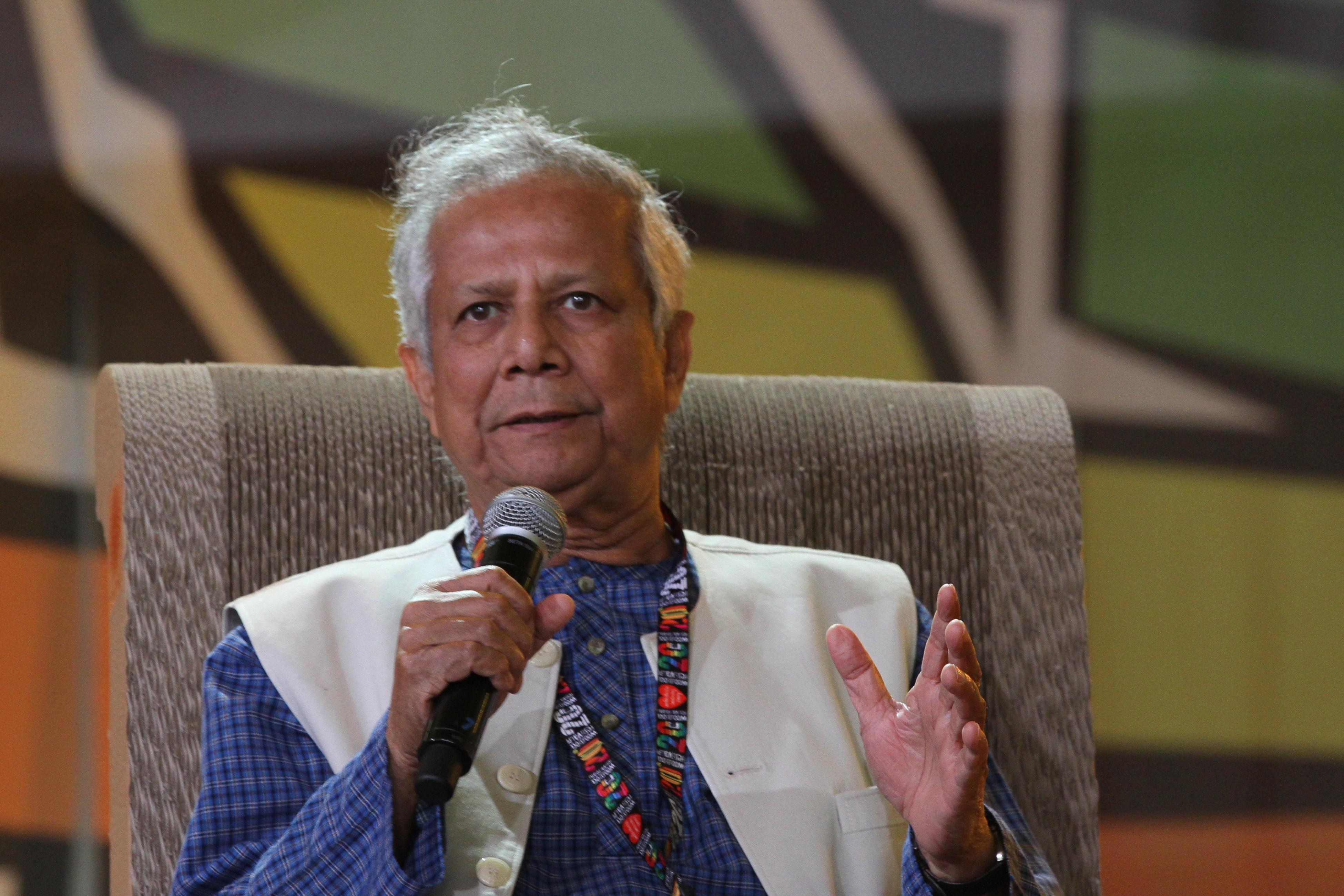 Depiction of Muhammad Yunus