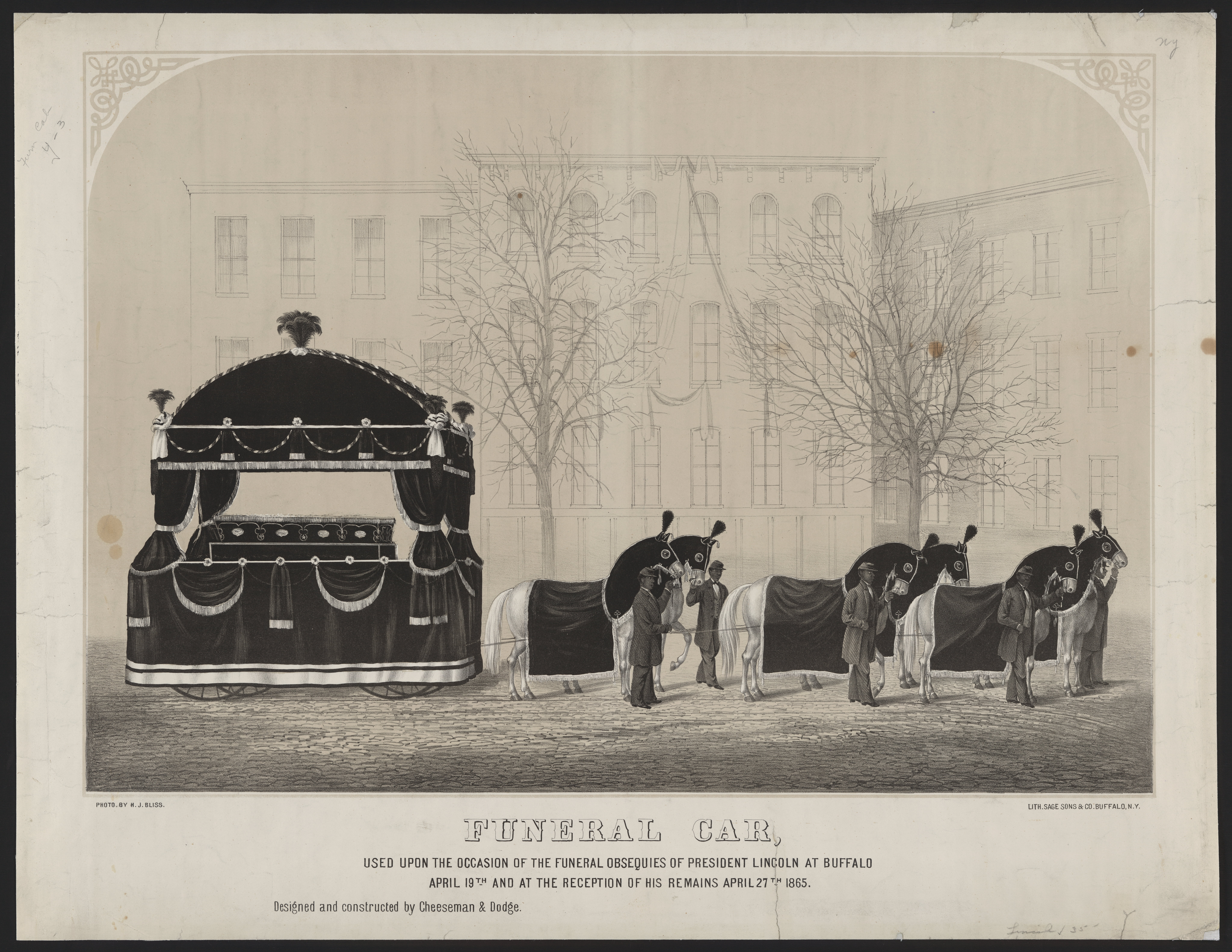 File Abraham Lincoln S Funeral Car In Buffalo Jpg Wikimedia Commons