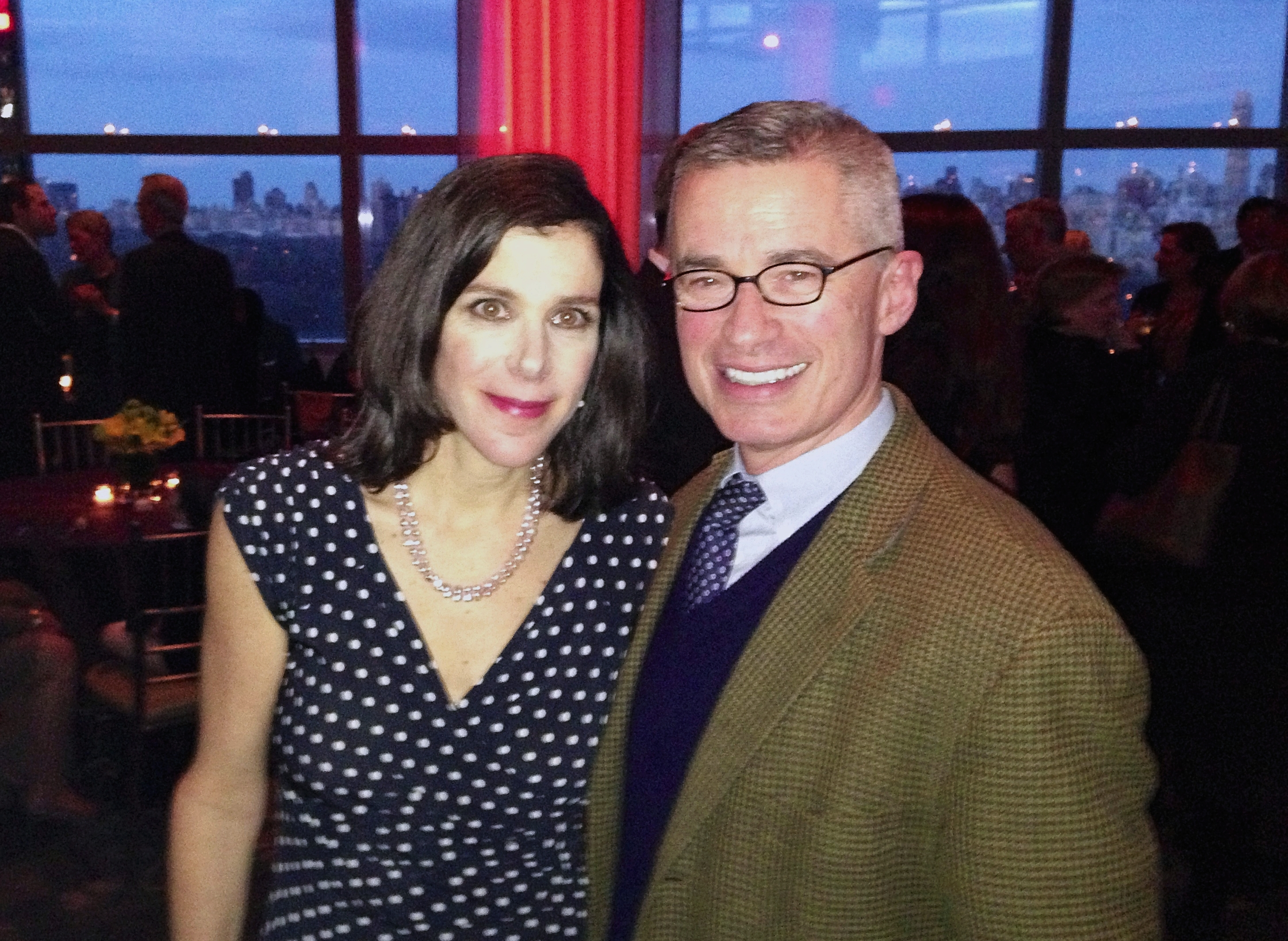 Filmmaker Alexandra Pelosi and former New Jersey Governor Jim McGreevey at the New York City premiere of Pelosi's HBO documentary about McGreevey, Fall to Grace, in March 2013.