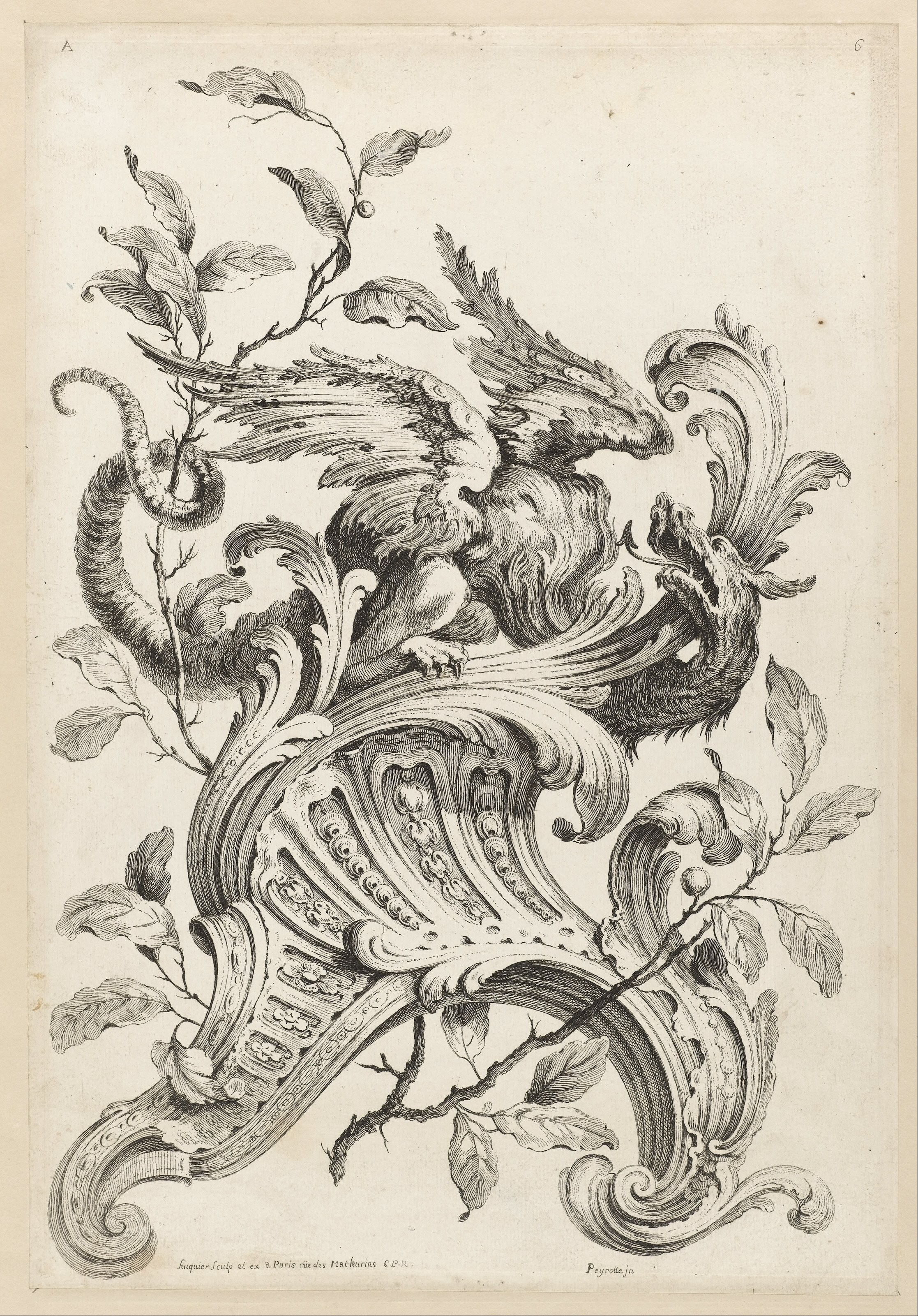 File alexis peyrotte winged griffon on a rocaille for Baroque fashion design