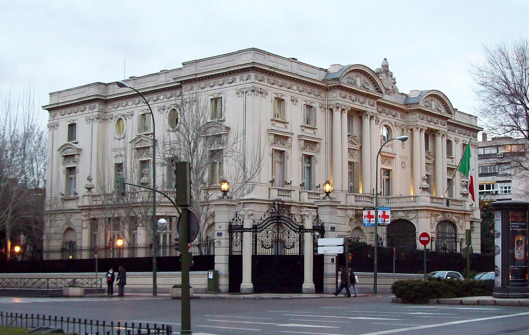 File ambasciata d 39 italia a madrid spagna wikimedia commons - Barrio salamanca madrid ...